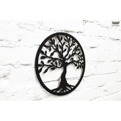Drzewko szczęścia. Czarny HDF lakierowany
