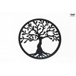 Czarne drzewo szczęścia. Czarny, lakierowany HDF