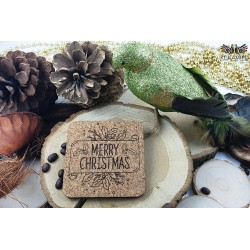 Merry Christmas square cork placemats