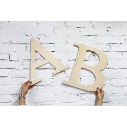 Wooden letters for decorating. Decoration.