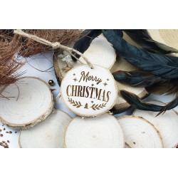 Wooden plaster with Christmas engraving