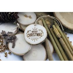 Plaster drewniany z grawerem Merry Christmas