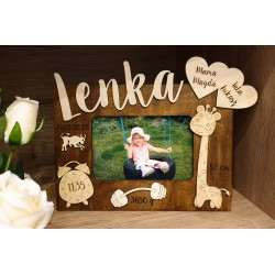 Photo frame with baby details