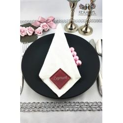 Szklana winietka kwadratowa z imieniem - Biskupi róż
