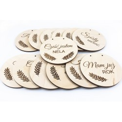 Plates for making photos of first year of life and pregnancy