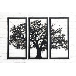 Tryptyk - Drzewo na ścianę, czarne z HDF