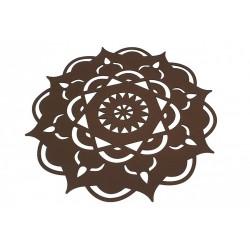 Felt drape - Brown Mandala