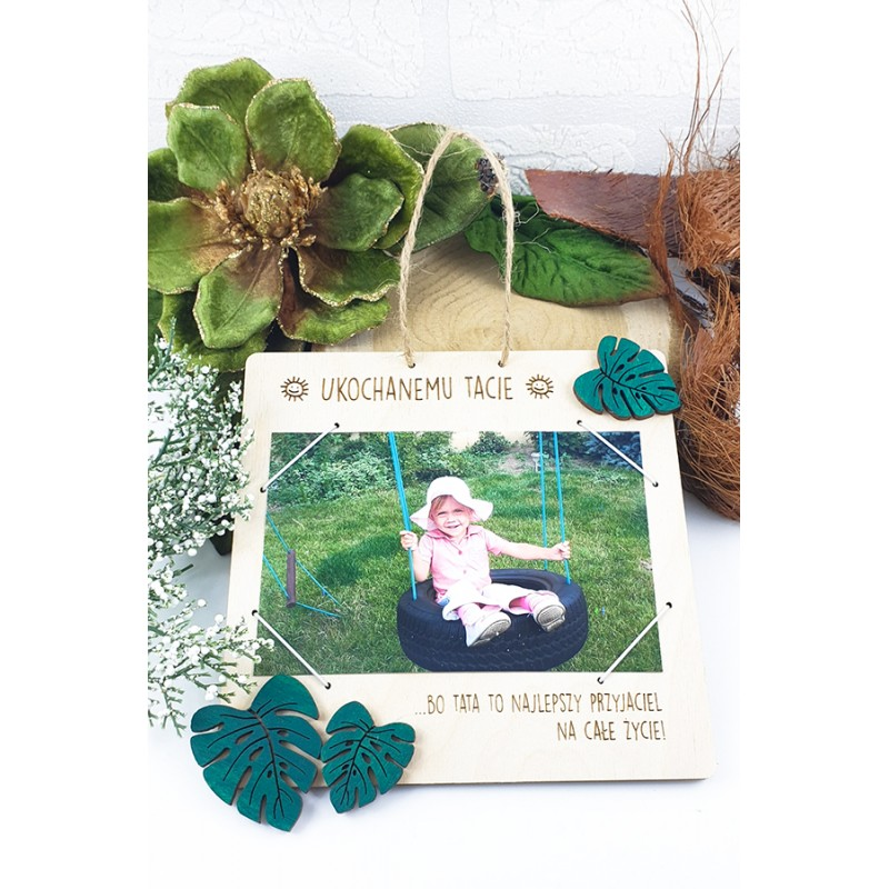 Green monster photo frame. Father's Day gift
