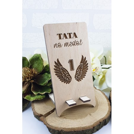 Phone stand - Dad for a medal - Wings. Father's Day gift