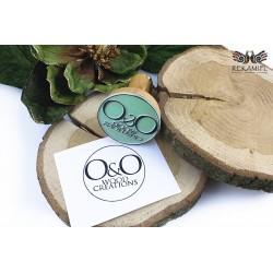 Stempel drewniany okrągły - Wood Creations