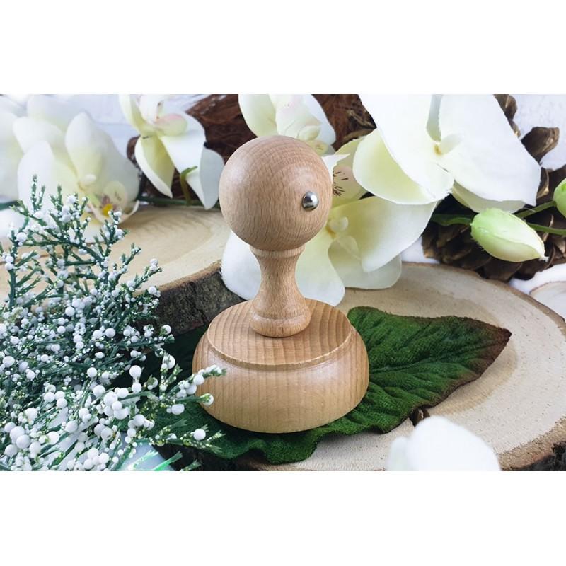 Stempel drewniany okrągły - Model retro