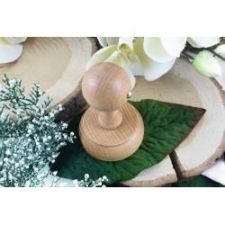 Okrągły stempel drewniany - Retro