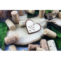 Winietki drewniane - Serce