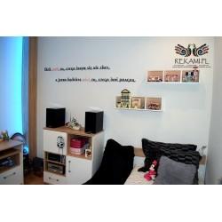 Napis ozdobny na ścianę - Motto