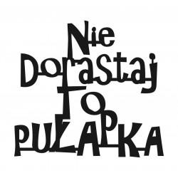 Napis z motto na ścianę