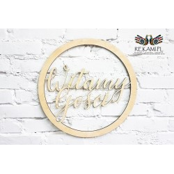 Koło z napisem na wesele - Witamy Gości