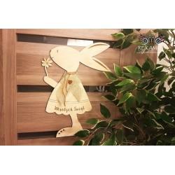 Wielkanoc - Ozdoba na drzwi - Zając
