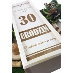 Wooden wine box - Birthday