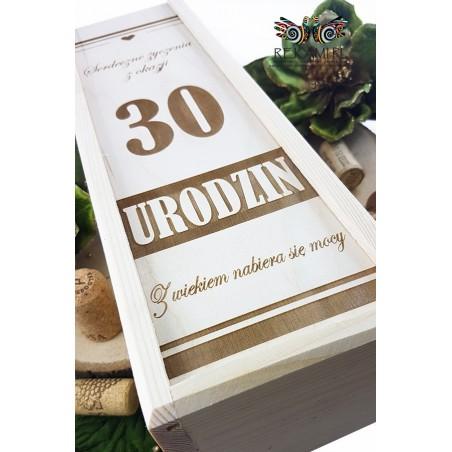 Skrzynka na wino - 30 Urodziny