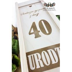 Grawerowana skrzynka na wino - 40 Urodziny