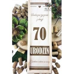Grawerowana skrzynka na wino - 70 Urodziny