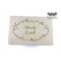 Engraved box.