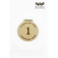 Grawerowany laserowo medal ze sklejki
