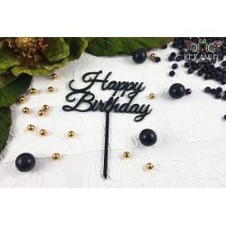 Topper urodzinowy z czarnej pleksy