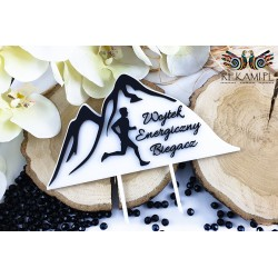 Cake topper for a runner