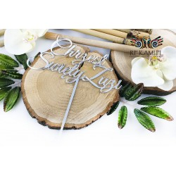 Topper for Baptism - Silver mirror
