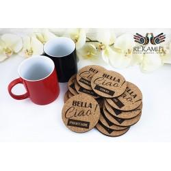 Cork pads for mug - Bella Ciao