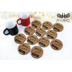 Pads for mug made of cork - Bella Ciao