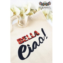 Shopping bag with Bella Ciao print