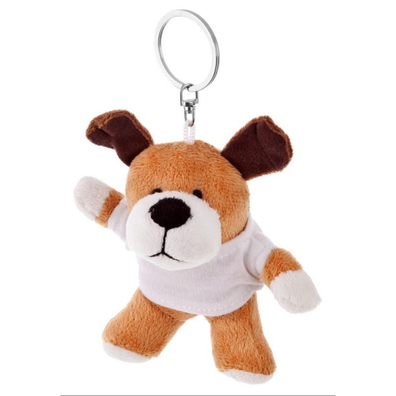 Plush dog - keyring with marking