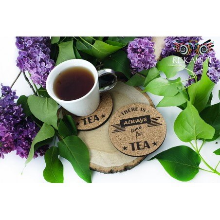 Cork tea pads - There is always time for tea