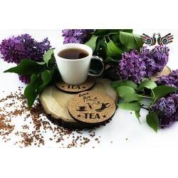 Korkowa podkładka do herbaty - Imbryk