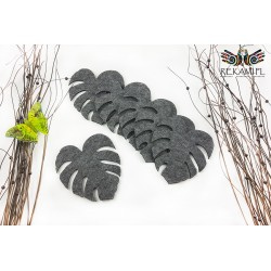 Felt tablecloth and pads - monstery leaf