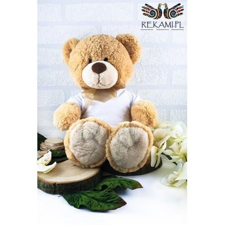 Teddy bear. Honey bear with a bow.