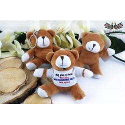 Teddy bears with print