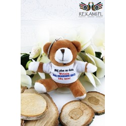 Teddy bear with print - Key ring