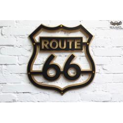 Dekoracja ścienna. Upominek dla motocyklisty. Route 66.