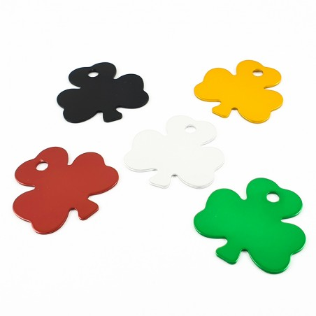 Pendant with engraving - Lucky clover leaf