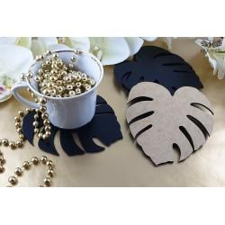 Monstery leaf - Black hdf cup pads