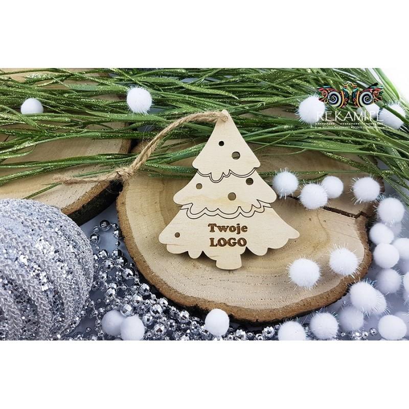 Zawieszka, Ozdoba na Boże Narodzenie - Choinka z Logo