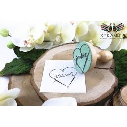 Round wooden griffin stamp