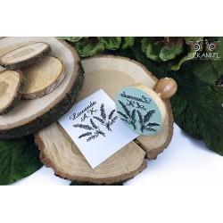 Wooden round stamp - exlibris
