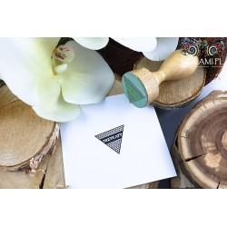Round wooden stamp