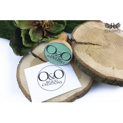 Round wooden stamp - Wood Creations