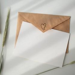 Pieczątka na zaproszenia ślubne. Serce LOVE. NIO