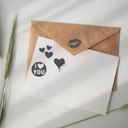 Dekorowanie kopert - Pieczątka NIO - Miłość
